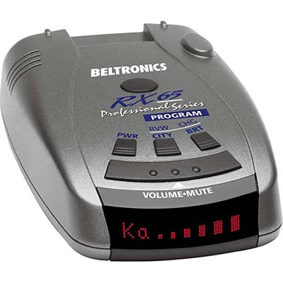 6. Beltronics Professional Series Radar Detector RX65-Red