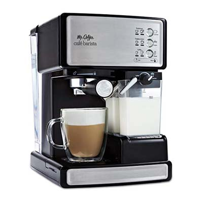3. Mr. Coffee Cafe Barista Espresso Maker, Silver