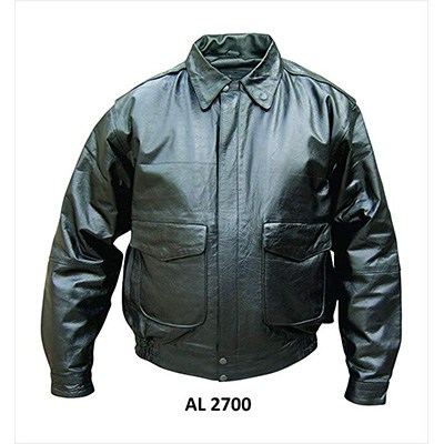7. Allstate Leather Mens Black Lambskin Leather jacket