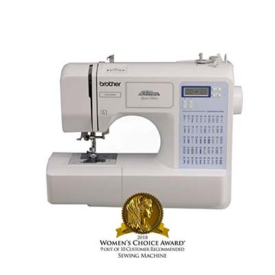 6. Brother Project Runway Sewing Machine, CS5055PRW