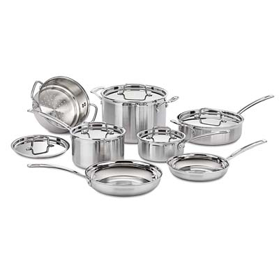 5. Cuisinart Cookware Set, MCP-12N