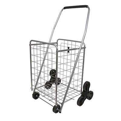 2. Helping Hand Deluxe Stair Climber Cart, Silver