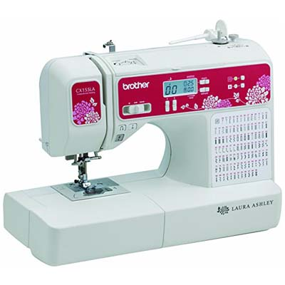 8. Brother Laura Ashley Sewing & Quilting Machine, CX155LA