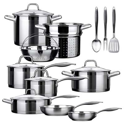 8. Duxtop SSIB Cookware Set, (4 Pieces)