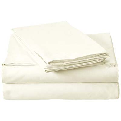 5. Millenium Linen Bed Sheet Set - Beige Ivory