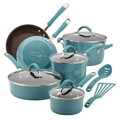 4. Rachael Ray Nonstick Cookware Set
