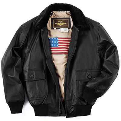 10. Landing Leathers Men's G-1 Bomber Jacket