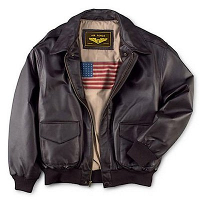 9. Landing Leathers Men's Bomber Jacket - Air Force A-2