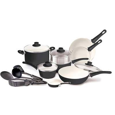 6. GreenLife 16pc Ceramic Non-Stick Cookware Set