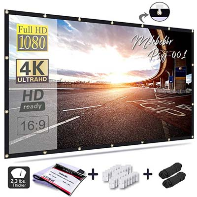 8. Mdbebbron 120 inch Projection Screen