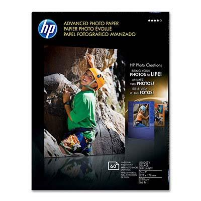 5. HP Advanced Glossy Photo Paper, 60 Sheets, 5 x 7 Inch)