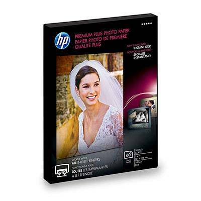 7. Hewlett Packard HP Photo Paper Premium Plus, (5x7 inch), 60 sheets