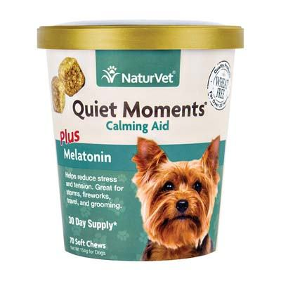 3. NaturVet Quiet Moments Plus Melatonin