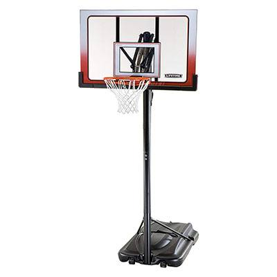 6. Lifetime 52 Inch Portable Basketball Hoop System