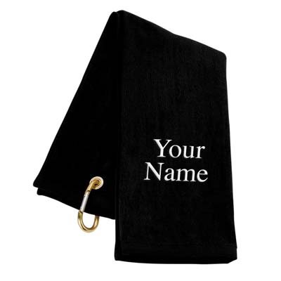 9. Trifold LLC Personalized Golf Towel