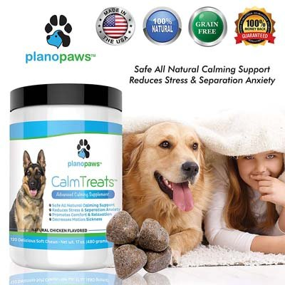 8. planopaws Safe Calming Treats for Dogs