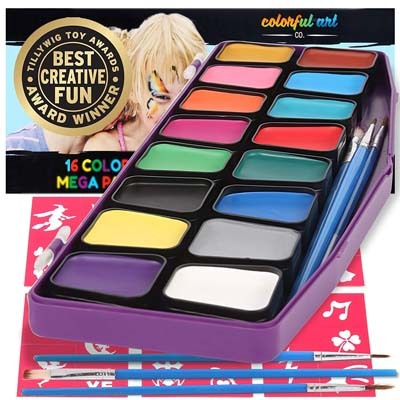 9. Face Paint Kit by Colorful Art Co.