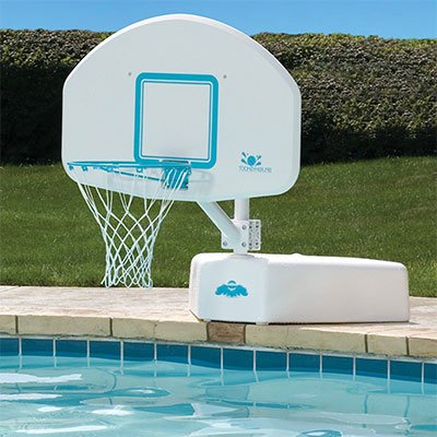 3. Pool Pleasure Poolside Deck Top Pool Basketball Backboard