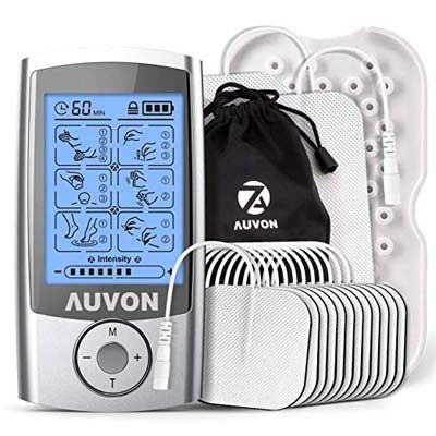 9. AUVON Rechargeable TENS Unit Muscle Stimulator (2