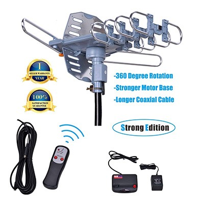 8. Will Brands 150+Miles Range Outdoor Amplified Digital TV Antenna