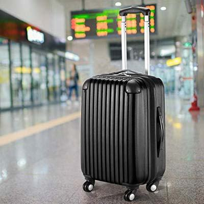 8. Goplus ABS Carry On Expandable Luggage