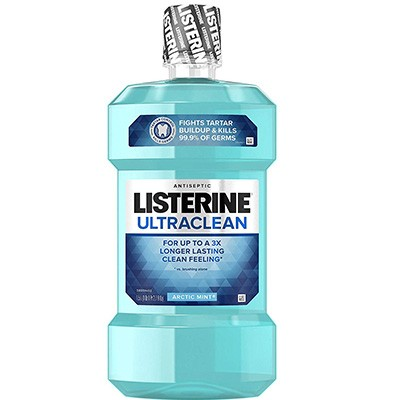 3. Listerine Ultraclean Oral Care Antiseptic Mouthwash