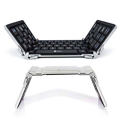 2. iClever Bluetooth Foldable Keyboard