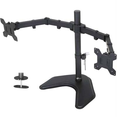 2. WALI Free Standing Dual LCD Monitor Desk Mount