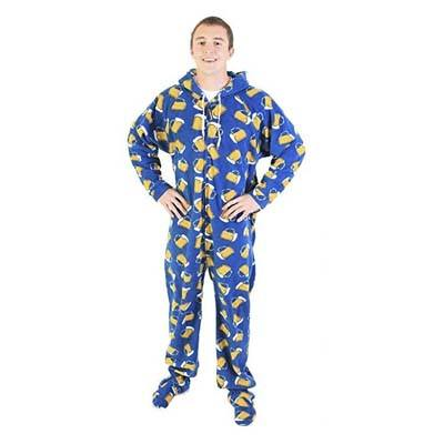 5. Forever Lazy Footed Adult One-Piece Pajama Unisex