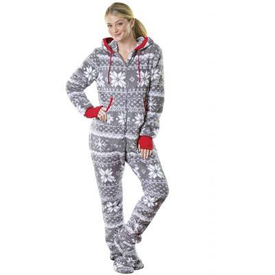 9. PajamaGram Pajamas for Women - Fleece Womens Onesie