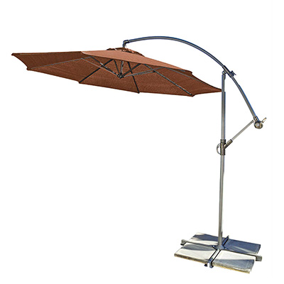 2. Coolaro Freestanding Patio Shade Umbrella – Terra cotta