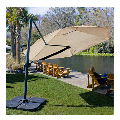 4. Coolaro Freestanding Patio Umbrella - Mocha