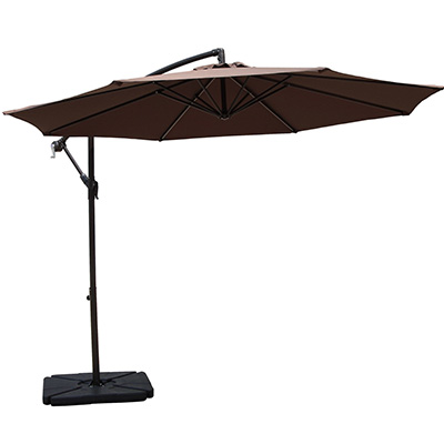 3. COBANA 10' Hanging Patio Freestanding Umbrella