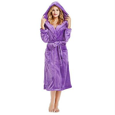 2. M&M Mymoon Womens Hooded Fleece Robes