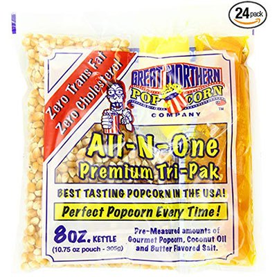 10. 4110 Great Northern Popcorn 8 Ounce Popcorn Portion Packs, Case of 24