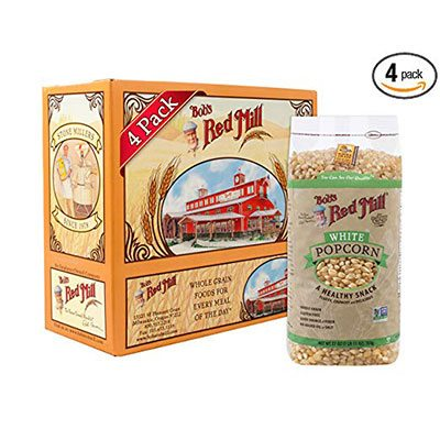 6. Bob's Red Mill 27 Oz Whole White Popcorn (4 Pack)