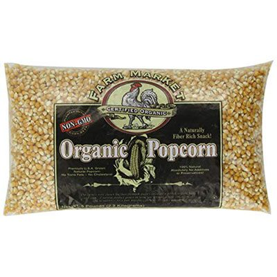 4. 4204 Great Northern Organic Yellow Popcorn, 5 Pounds