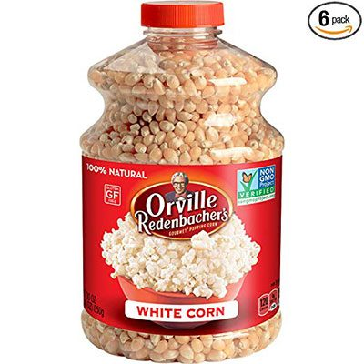 1. Orville Redenbacher's White Popcorn Kernels, 30 Ounce, Pack of 6