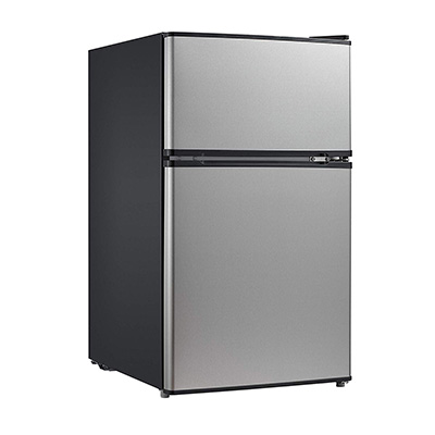3. Midea WHD-113FSS1 Double Door Mini Fridge