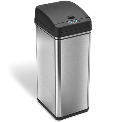 1.iTouchless 13 Gallon Automatic Trash Can