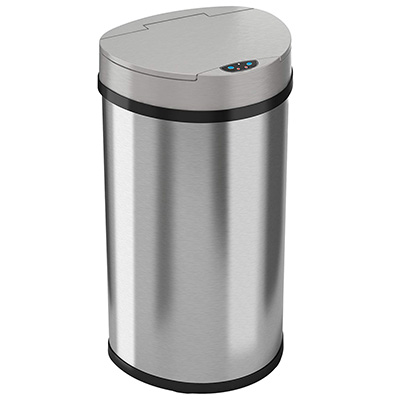 9.iTouchless 13 Gallon Sensor Kitchen Trash Can, semi-round