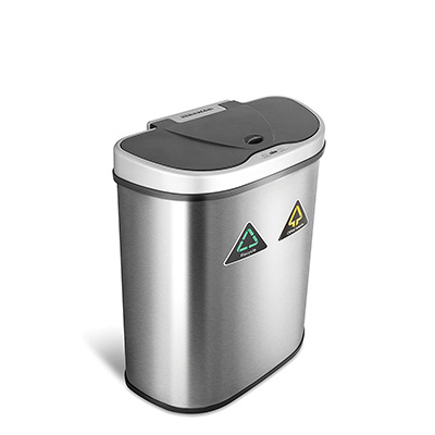 4.NINE STARS Automatic Touchless Trash Can, 18 Gal