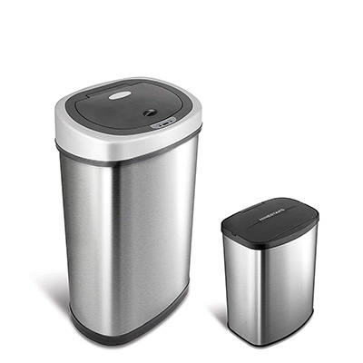 2.NINE STARS Automatic Touchless Sensor Trash Can combo set