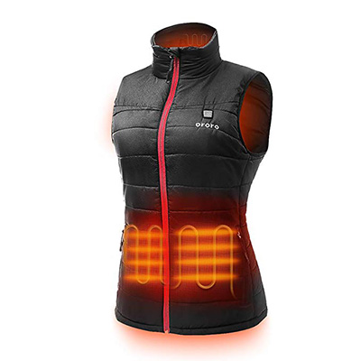 2. ORORO Women's Lightweight Heated Vest