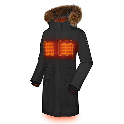 8. ORORO Women's Heated Parka jacket