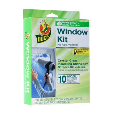 7. Duck Brand 10-Window Shrink Insulator Kit
