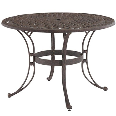 6. Biscayne Bronze Round Outdoor Dining Table
