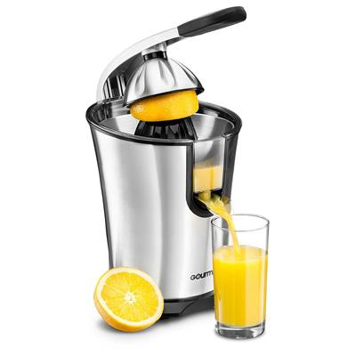 3. Gourmia EPJ100 Electric Citrus Juicer Stainless Steel 10 QT 160 Watts Rubber Handle