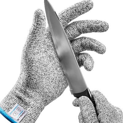 2. Stark Safe Cut Resistant Gloves (1 Pair) Food Grade Level 5 Protection