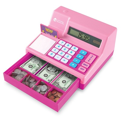 1. Learning Resources Pretend & Play Calculator Cash Register, Classic Counting Toy,